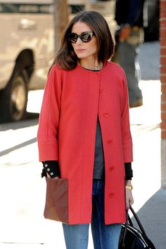 Olivia Palermo - Love the sunglasses and coat
