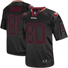 Youth Nike San Francisco 49ers #80 Jerry Rice Lights Out Black Limited NFL Jersey Sale