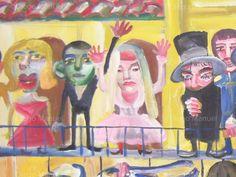 """""""25 de mayo """" ,acrilico sobre lienzo,65 x 100 cm. , 2001. Cuadro en venta de la Serie Historia Argentina del artista plastico Diego Manuel"""