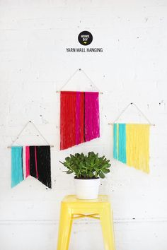 MY #DIY | Mini Yarn Wall Hanging #decor