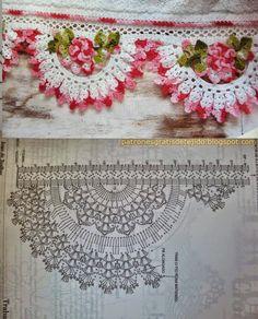Crochet+y+dos+agujas:+Bellísima+puntilla+floral