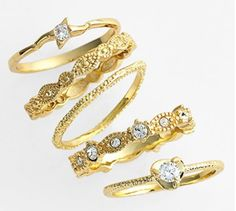 Pretty #golden stackable rings http://rstyle.me/n/gkjhmr9te