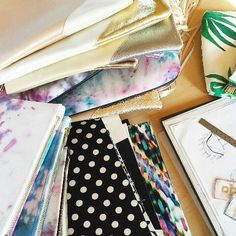 Situation on our work table in our Studio. Messy but artsy! ❤ our COLLECTION CLEARANCE SALE is still on, so check our Store to find out more! #sale #etsyfinds