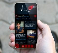 """The conceptual Opportune smartphone app tracks a user's interests based on keywords from their Facebook updates, web searches, and frequented sites and gives them real-time geolocated """"connections"""" that might be able to help them with something they've been searching for."""