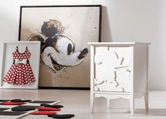 Mickey Mouse is in the house, folks! Our homage to Disney's legendary—and lovable—mascot is a cornerstone of the Ethan Allen | Disney art collection. It's larger than life (at just over 50 inches square), like the character himself. Exclusively for Ethan Allen | Disney, abstract artist Paul Ngo created this piece that bridges styles and generations. The original is loosely rendered in soft sepia tones on Belgian linen, and our high-resolution giclée on canvas perfectly captures every line…