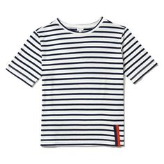 """How do you say """"tomboy chic"""" in French? We'll leave that to the experts and instead present you with The Modern, an everyday basic we imagine on the likes of Alexa Chung or Sofia Coppola. This short-sleeve style is made of an almost tissue-like cotton that's light and airy. As for the fit — a straight boxy cut that's slightly snug across the chest for a bit of added femininity. The rest is loose-fitting throughout the waist for comfort."""