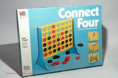 Connect Four Vertical Checkers Game from Milton Bradley 1978 COMPLETE (read description). $14.00, via Etsy.