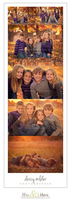 fall family shoot // Iowa photographer, Darcy milder // I love the contrast in colors with the natural fall foliage and their clothing. LOVE LOVE LOVE the 'warmth' felt in these images. by lila