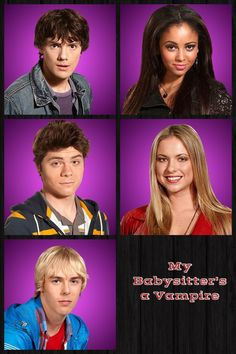 Ethan, Sarah, Benny, Erica, and Rory The gang My Babysitter's A Vampire, Vanessa Morgan, Disney Channel, Friendship, Babysitters, Movie Posters, Film Poster, Billboard, Film Posters