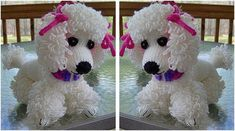Adorable Poppet Knitted Poodle [FREE Knitting Pattern]