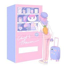 Carat Bong, Rose Quartz Serenity, Carat Seventeen, Aesthetic Drawing, Aesthetic Anime, Kpop Drawings, Seventeen Wallpapers, Kawaii Wallpaper, Kpop Fanart