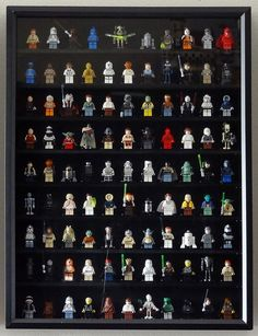 Lego Minifigure Display ~ I think this I might do this with my little man's Lego collection when he grows out of them.