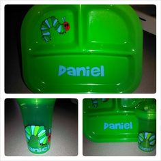 personalized toddler cup and plate set