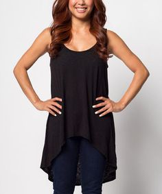 Another great find on #zulily! Vintage Black Hi-Low Tank by Delivering Happiness #zulilyfinds