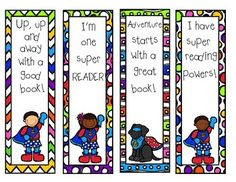 Enjoy this freebee from me to you!!   4 Super Hero bookmarks.  Make sure to like my page for more great products!!!