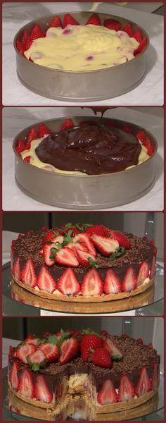 Sweet Recipes, Cake Recipes, Dessert Recipes, Creme Dessert, Good Food, Yummy Food, Dessert Drinks, Fancy Cakes, Sweet Treats