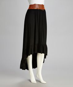 Take a look at this Black Hi-Low Skirt on zulily today!