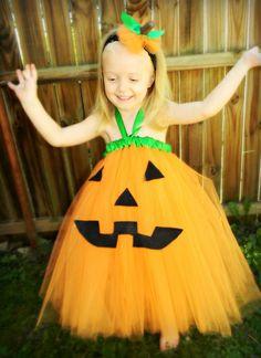 Adorable Pumpkin Costume Tutu Dress NB5yrs by TutieCutieTutus, $45.00