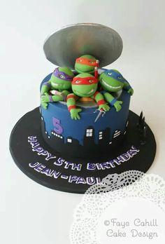 5th Birthday Cake, Goodies, Turtle Cakes, Ninja, Desserts, Food, Kids, Sweet Like Candy, Tailgate Desserts