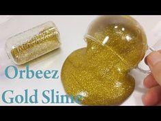 How To Make 'Glitter Orbeez Gold Slime' Recipe DIY PomPom !! 반짝이 골드 크리스탈 볼 액체괴물 만들기!! 액괴 클레이 슬라임 점토 - YouTube