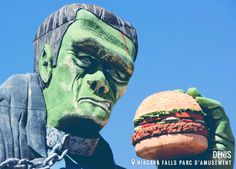 Frank a un petit creux. Niagara Falls Parc d'amusement. #frankenstein #burger #geant Cette image provient de l'application Facebook de Ton Ontario.