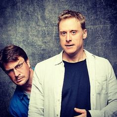 Nathan Fillion and Alan Tudyk ~ Firefly & Serenity Serenity Now, Firefly Serenity, Joss Whedon, Firefly Tv Series, Nathan Fillon, Westerns, Best Shows Ever, Celebrity Crush, Man