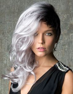 The latest synthetic and human hair wigs from Raquel Welch, Jon Renau, and more. Lace Front Wigs, Lace Wigs, Stop Grey Hair, Gray Hair, Blonde Hair, Rene Of Paris Wigs, Best Hair Dye, Jon Renau, Grey Wig