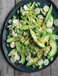 Who Says A Gorgeous Green Salad Needs Lettuce?: Kim Kushner's Avocado, Hearts of Palm, Edamame & Za'atar Salad