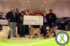 Thanks to Free Spirit Siberian Rescue reps for visiting with us on Friday to accept the $500 win! Keep watching for more info about Free Spiriti Siberian Rescue coming soon! — at Naperville, IL.