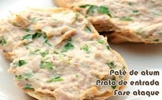 Patê de atum com iogurte – Receitas dukan Finger Food Appetizers, Great Appetizers, Appetizer Recipes, Empanadas, Low Carb Recipes, Healthy Recipes, Dukan Diet, Healthy Food Choices, Mini Foods