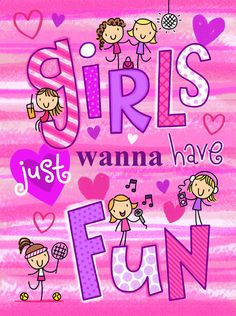 93 GIRLS JUST WANNA HAVE FUN by HELEN PICKUP, via Flickr