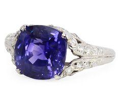 Fantastic 5.5 ct. No Heat Sapphire Ring - The Three Graces