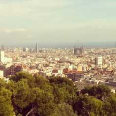 View on Barcelona from Park Guell. Spain. By Hanna Starchyk