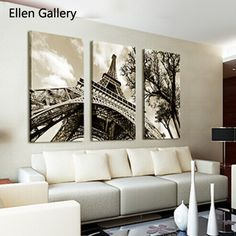 Cheap Envío gratis torre Eiffel pintura de la lona Paris Wall Painting Pictures…