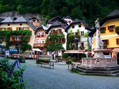 Austria - Hallstatt - There is only one road through the town, and automobile traffic is usually not allowed May to October, 10 am to 5 pm, when Hallstatt is essentially car-free. You can easily walk from one end of the town to the other in about a half hour.