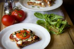 Healthy pizza night just got easy with this Ezekiel Bread Pizza - yum!