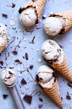 Espresso Chocolate Ice Cream in chocolate dipped cones Frozen Desserts, Frozen Treats, Parfait, Ice Ice Baby, Chocolate Ice Cream, Chocolate Dipped, Ice Cream Maker, Homemade Ice Cream, Ice Cream Recipes