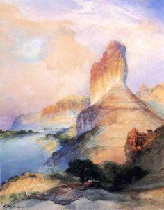 Castle Butte, Green River, Wyoming Thomas Moran 1900