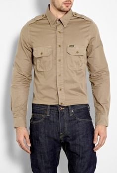 Stone Montgomery Military Shirt by Barbour  #PackforParadise Enter Here: http://budurl.com/PackforParadise