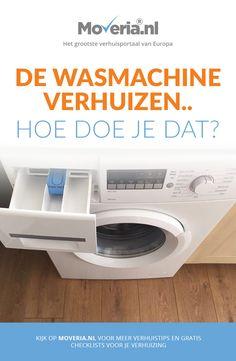 De wasmachine verhuizen met de volgende tips: leeg laten lopen, beschermen en op de juiste manier tillen: alles voor een succesvolle verhuizing!