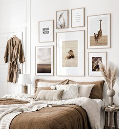 Gallery Wall Inspiration - Shop your Gallery Wall Cozy Bedroom, Room Decor Bedroom, Modern Bedroom, Gallery Wall Bedroom, Aesthetic Bedroom, Apartment Interior, New Room, Cheap Home Decor, Living Room Designs