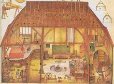 Maison medieval, dessin.