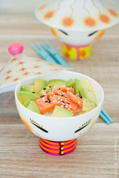 Chirashi With Salmon & Avocado #Chirashi #Salmon #Avocado #Healthy