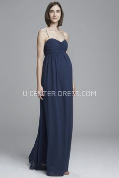 50858acc253 Ruched Spaghetti Empire Sleeveless Chiffon Bridesmaid Dress