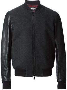 $1,137, DSQUARED2 Bomber Jacket. Sold by farfetch.com. Click for more info: https://lookastic.com/men/shop_items/286264/redirect
