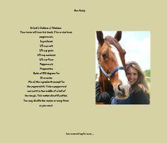 Barn Buddy Horse Treat Recipes n' more. Homemade Horse Treats, Goody Recipe, Horse Camp, Cute Ponies, Blurb Book, Horse Stuff, Tack, Equestrian, Pony