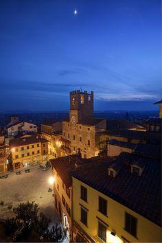 Cortona Italy at night ~ by Al Hurley