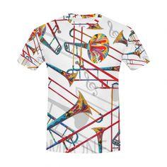 d3435b6a2 Colorful Trombone T shirt By Juleez All Over Print T-Shirt for Men (USA