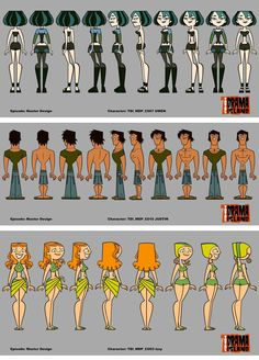 Personagens de Total Drama Island, da Cartoon | THECAB - The Concept Art Blog