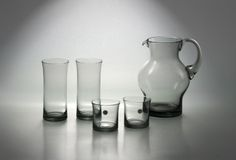 Zbigniew Horbowy. Water Pitcher & Glasses. 1980's Modern Pitchers, Kultura, Water Pitchers, Carafe, Sugar Bowl, Bowl Set, Glass Art, Art Deco, Polish